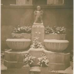 Historische Aufnahme des Wandbrunnens. Foto: Archiv Beatrix Uhlitzsch