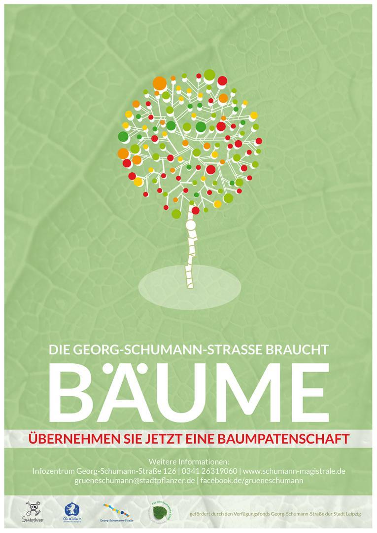 Plakat Grüne Schumann Baumpaten